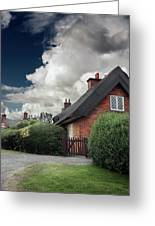 The Cottage Greeting Card by Ian David Soar