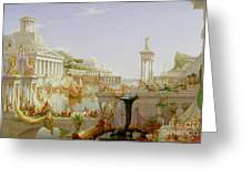 The Course Of Empire - The Consummation Of The Empire Greeting Card by Thomas Cole