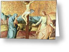 The Crucifixion with the Virgin and St John the Evangelist Greeting Card by French School