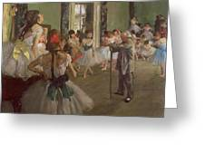 The Dancing Class Greeting Card by Edgar Degas