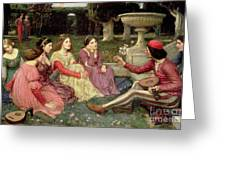 The Decameron Greeting Card by John William Waterhouse