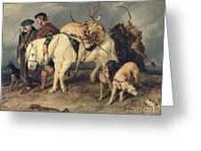 The Deerstalkers Return Greeting Card by Sir Edwin Landseer