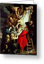 The Descent From The Cross Greeting Card by Peter Paul Rubens