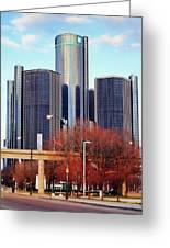 The Detroit Renaissance Center Greeting Card by Gordon Dean II