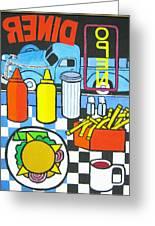 The Diner Greeting Card by Nicholas Martori