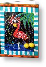 The Dodo Bird Greeting Card by Doralynn Lowe