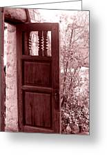 The Door Greeting Card by Wayne Potrafka