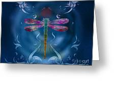 The Dragonfly Effect Greeting Card by Bedros Awak