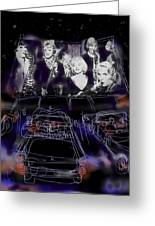 The Drive In Greeting Card by Russell Pierce