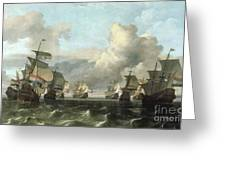 The Dutch Fleet Of The India Company Greeting Card by Ludolf Backhuysen