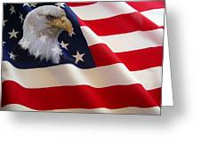 The Eagle Flag Greeting Card by Evelyn Patrick