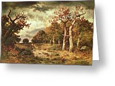 The Edge of the Forest Greeting Card by Narcisse Virgile Diaz de la Pena