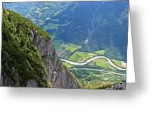 The Edge Of The Precipice Greeting Card by Hideaki Sakurai