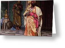 The Emir Greeting Card by Ludwig Deutsch