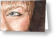 The Eyes Have It - Shelly Greeting Card by Sam Sidders
