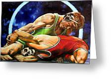 The Final Fight Greeting Card by John Lautermilch