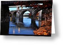 The Five Bridges - East Falls - Philadelphia Greeting Card by Bill Cannon