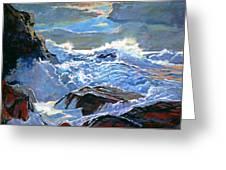 The Foaming Sea Greeting Card by David Lloyd Glover