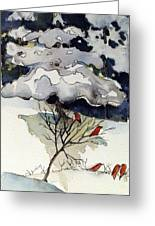 The Friendly Pine Tree Watches Greeting Card by Mindy Newman