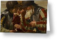 The Gamblers Greeting Card by Hendrick Ter Brugghen