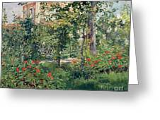 The Garden At Bellevue Greeting Card by Edouard Manet