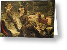 The Garden Bench Greeting Card by Tissot