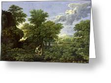 The Garden of Eden Greeting Card by Nicolas Poussin