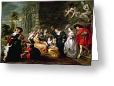 The Garden Of Love Greeting Card by Peter Paul Rubens