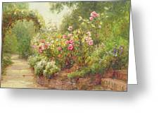 The Garden Steps   Greeting Card by Ernest Walbourn
