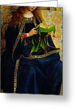 The Ghent Altarpiece The Virgin Mary Greeting Card by Jan and Hubert Van Eyck