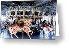 The Glen Echo Carousel Greeting Card by Fareeha Khawaja