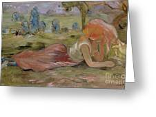 The Goatherd Greeting Card by Berthe Morisot