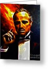 The Godfather Greeting Card by Pamela Johnson