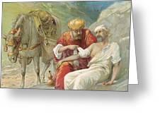 The Good Samaritan Greeting Card by Ambrose Dudley