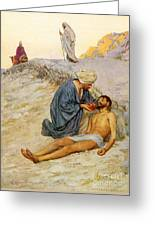 The Good Samaritan Greeting Card by William Henry Margetson