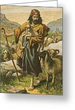 The Good Shepherd Greeting Card by English School