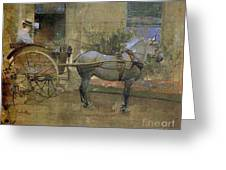 The Governess Cart Greeting Card by Joseph Crawhall