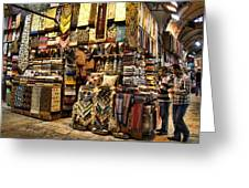 The Grand Bazaar In Istanbul Turkey Greeting Card by David Smith