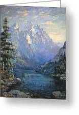 The Grand Tetons And Jenny Lake Greeting Card by Lewis A Ramsey