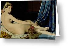 The Grande Odalisque Greeting Card by Ingres