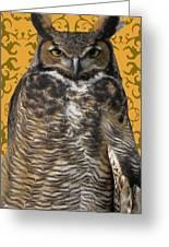 The Great Hored Owl Greeting Card by Debra     Vatalaro