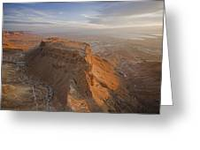 The Great Refuge Of Masada Looms Greeting Card by Michael Melford