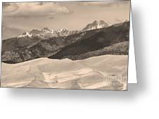 The Great Sand Dunes Sepia Print 45 Greeting Card by James BO  Insogna
