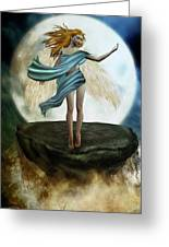 The Guardian Angel Greeting Card by Emma Alvarez