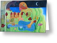The Guitarist Greeting Card by Richard Heley