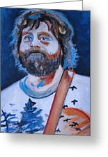 The Hangover Alan Garner Greeting Card by Mikayla Henderson