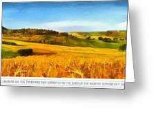 The Harvest Is Plentiful Greeting Card by Dale Jackson