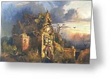 The Haunted House Greeting Card by Thomas Moran