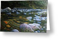 The Heart Of Quartz Creek Greeting Card by Ron Smothers