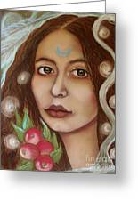The High Priestess Greeting Card by Tammy Mae Moon